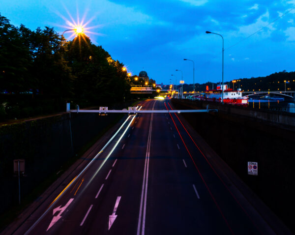 Prague, Motorway At Night