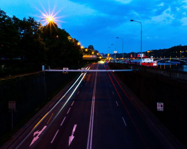 Prague, Motorway At Night