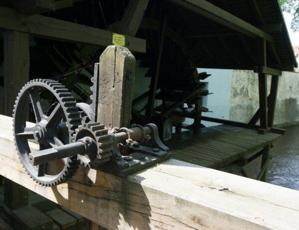 Prague, Old Watermill At Mlynska Kavarna