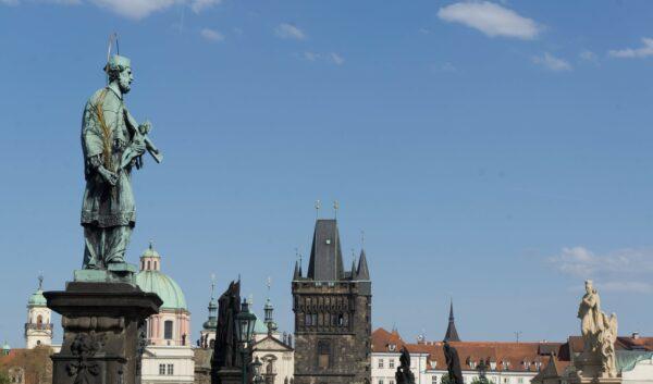 Prague, Statue At Charles Bridge