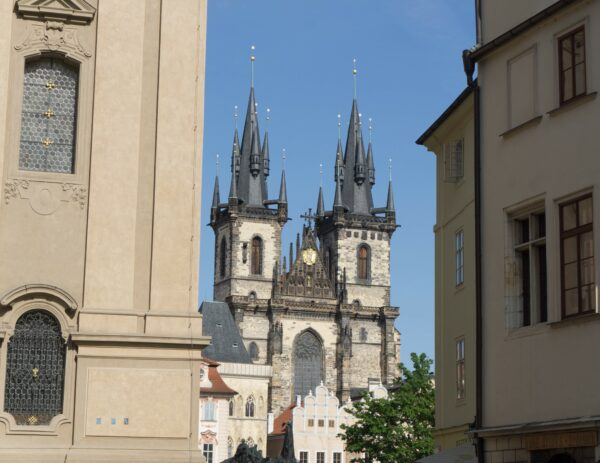 Prague, View To Church Of Our Lady Before Tyn