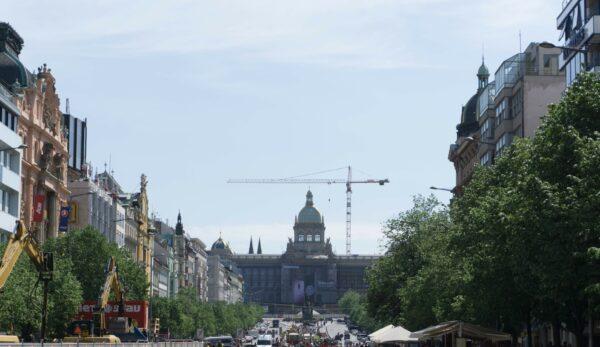 Prague, View To National Musem