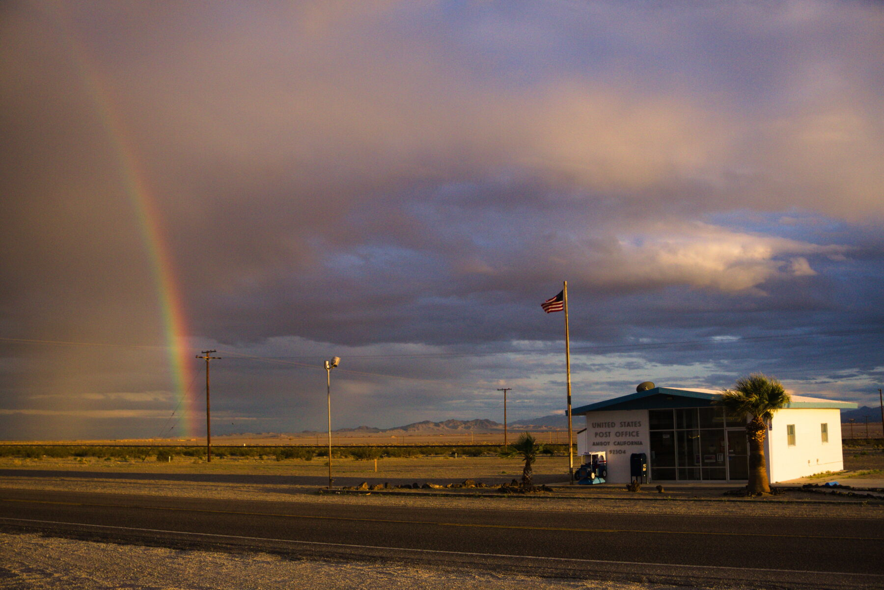 Rainbow And Post Office On Route 66