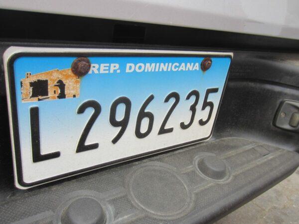 Republica Dominicana, Number Plate