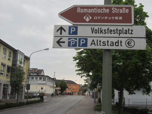 Romantische Strasse, Sign