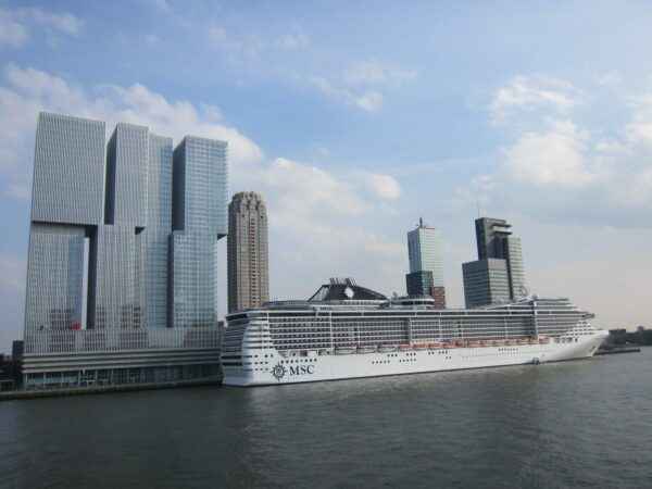 Rotterdam, MSC Splendida And Skyscraper