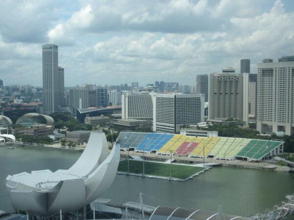 Singapore, ArtScience Museum And Floating Stadium