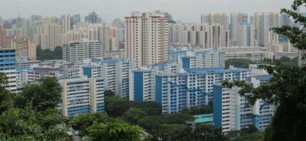 Singapore, Skyline Panorama View