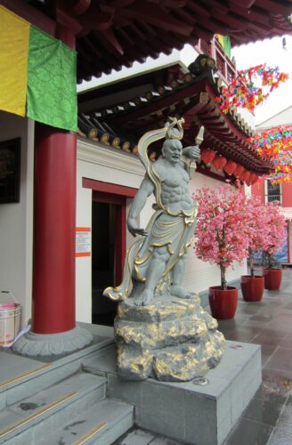 Singapore, Statue In Temple