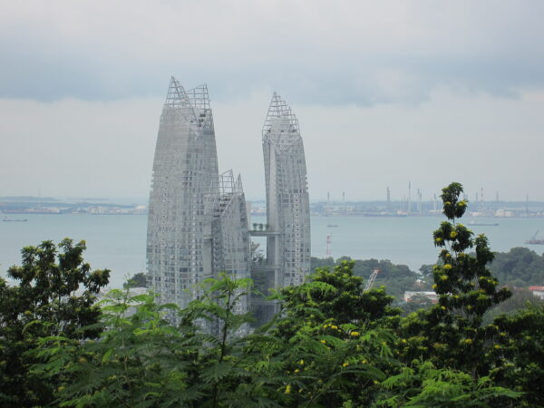 Singapore, View To Construction Buildings