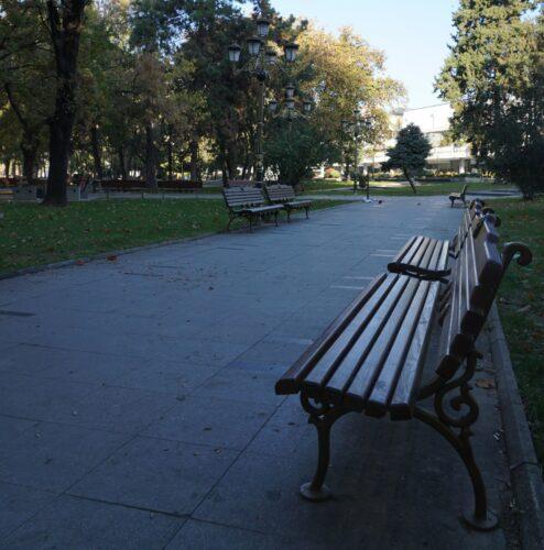 Skopje, Park Bench