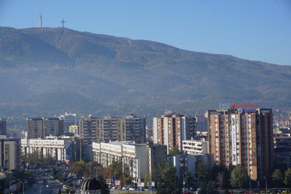 Skopje, View To Millenium Cross