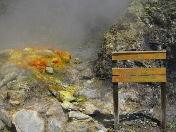Solfatara, Burning Danger