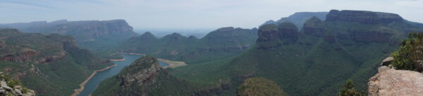 South Africa - Blyde River Canyon, Three Rondavels Panorama