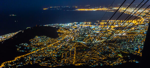 South Africa - Cape Town, Table Mountain Night View