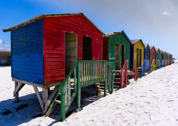 South Africa - Muizenberg, Bright Coloured Beach Houses