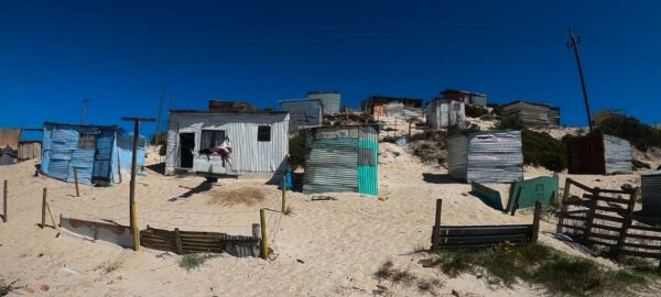 South Africa, Tin Huts In Dunes