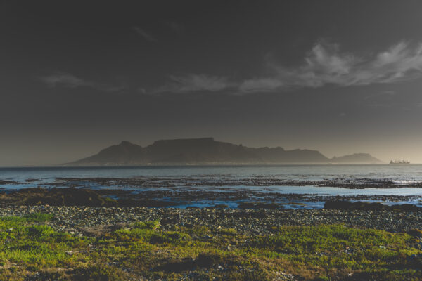 South Africa, View From Robben Island To Cape Town