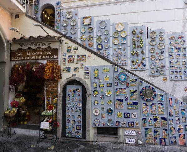 Souvenir Shop In Amalfi Town