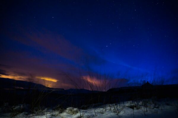 Stars At Icelandic Night Sky