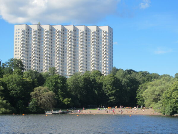 Stockholm, Residential Building Behind Beach