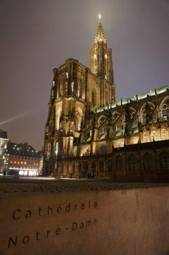 Strasbourg, Cathedral Notre Dame By Night