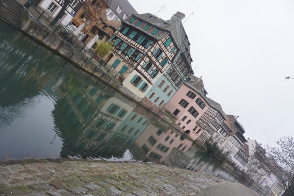 Strasbourg, Houses Reflecting In Water