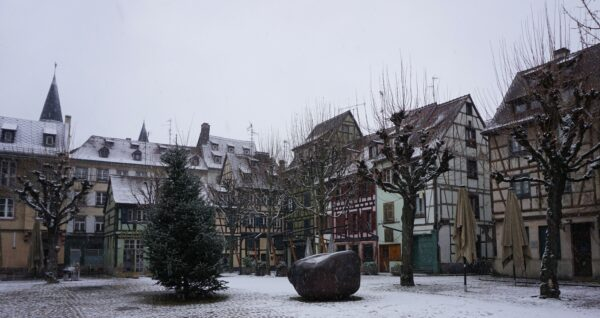 Strasbourg, Snow Covered Courtyard