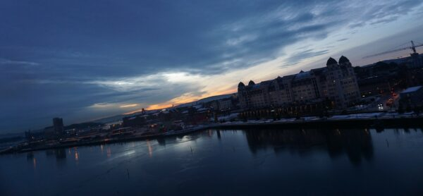 Sunset View From Oslo Opera House