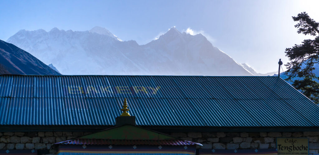 Tengboche view to Mount Everest