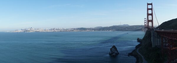 View From Golden Gate Bridge To San Francisco City Center