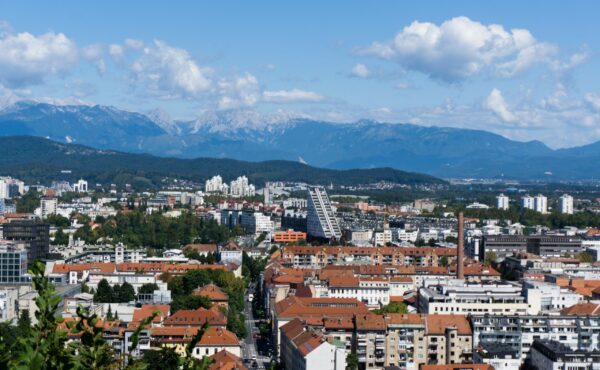 View From Ljubljana Castle To City Center