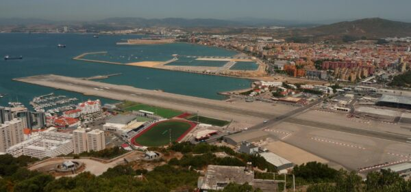 View From The Rock Of Gibraltar To Airport Runway