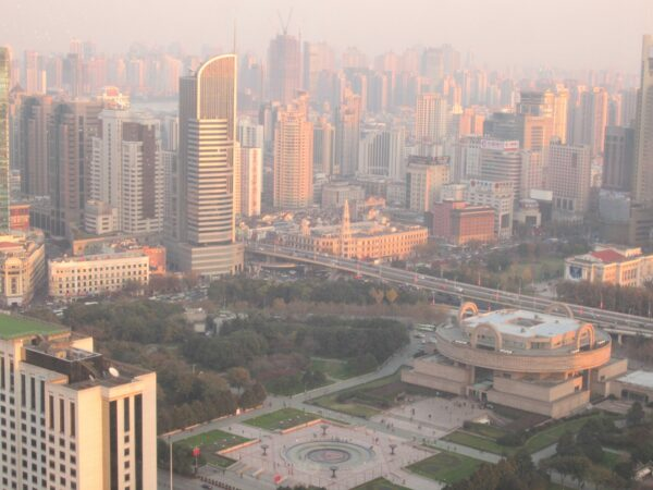 View To People's Park And Shanghai Museum