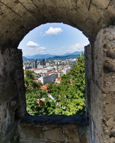 Window View At Ljubljana Castle