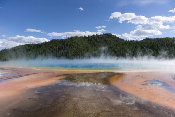 Yellowstone National Park, Bottom View To Grand Prismatic Spring