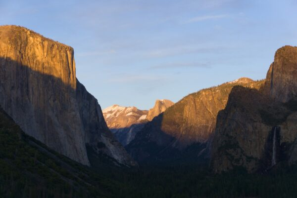 Yosemite National Park, El Capitan And Half Dome