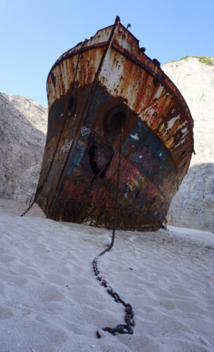 Navagio Shipwreck Beach, Front View