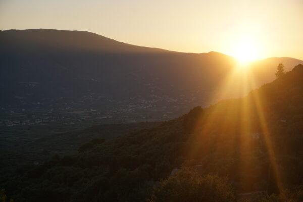 Sunset At Ano Gerakari